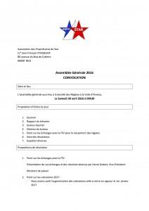 Association des Propriétaires de Star - Convoc
