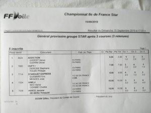 Championnat d'Ile de France 15 septembre 2019